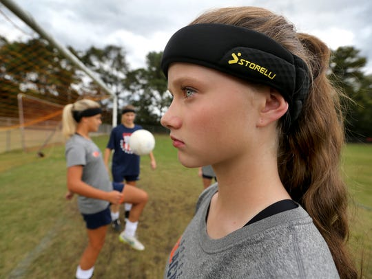 Blackman's Katelyn Davis, a freshman models the headband