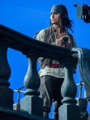 Anthony De La Torre on set during filming of Pirates