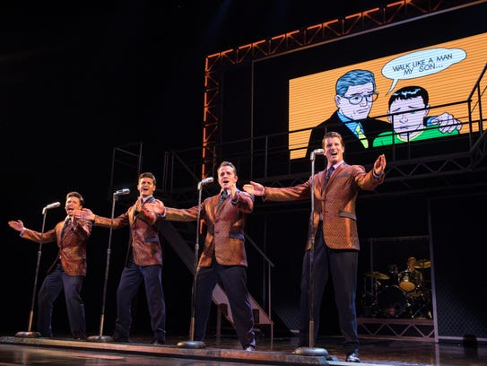 "Starring in the national tour of ""Jersey Boys"" are,"