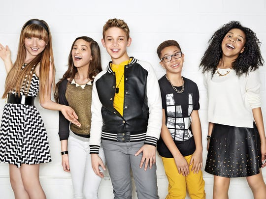 Ashlynn (from left), Bredia, Grant, Matt and Jayna are the Kidz Bop kids.
