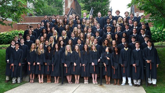 Group photo of the graduates at Ensworth High School's graduation. Saturday May 28, 2016, in Nashville, TN