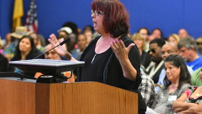 Former Palm Bay City Councilwoman Michele Paccione raised criticism to Palm Bay officials about the city's handling to grant programs, among other issues.