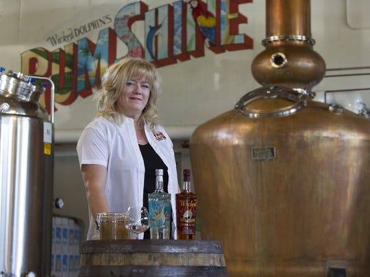 Owner JoAnn Elardo uses Florida-grown ingredients in her Wicked Dolphin rums.