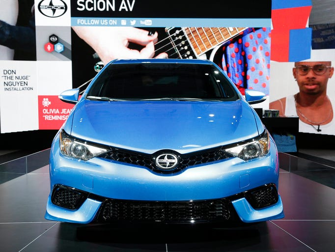 The 2016 Toyota Scion iM is on display at the New York