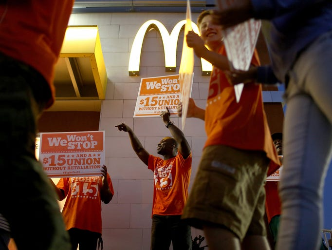 Fast Food Workers Protest For A Higher Minimum Wage