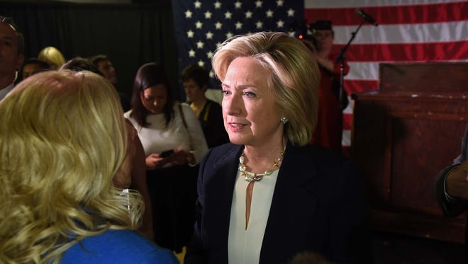Photos from Presidential Candidate Hillary Clinton's visit to the VFW Historic Post 9211 in Reno, Nev. on June 18, 2015.