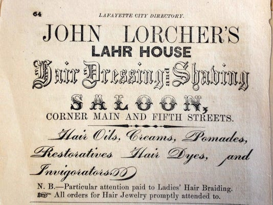 The Lahr House advertisement, 1863