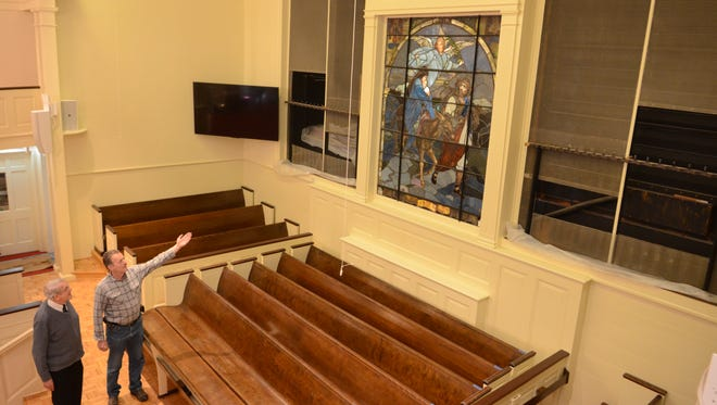 Pompton Reformed Church is almost done with its renovations. Pastor Mel Van Hattem tours the church with project manager Ralph Hook. Jan 25, 2017