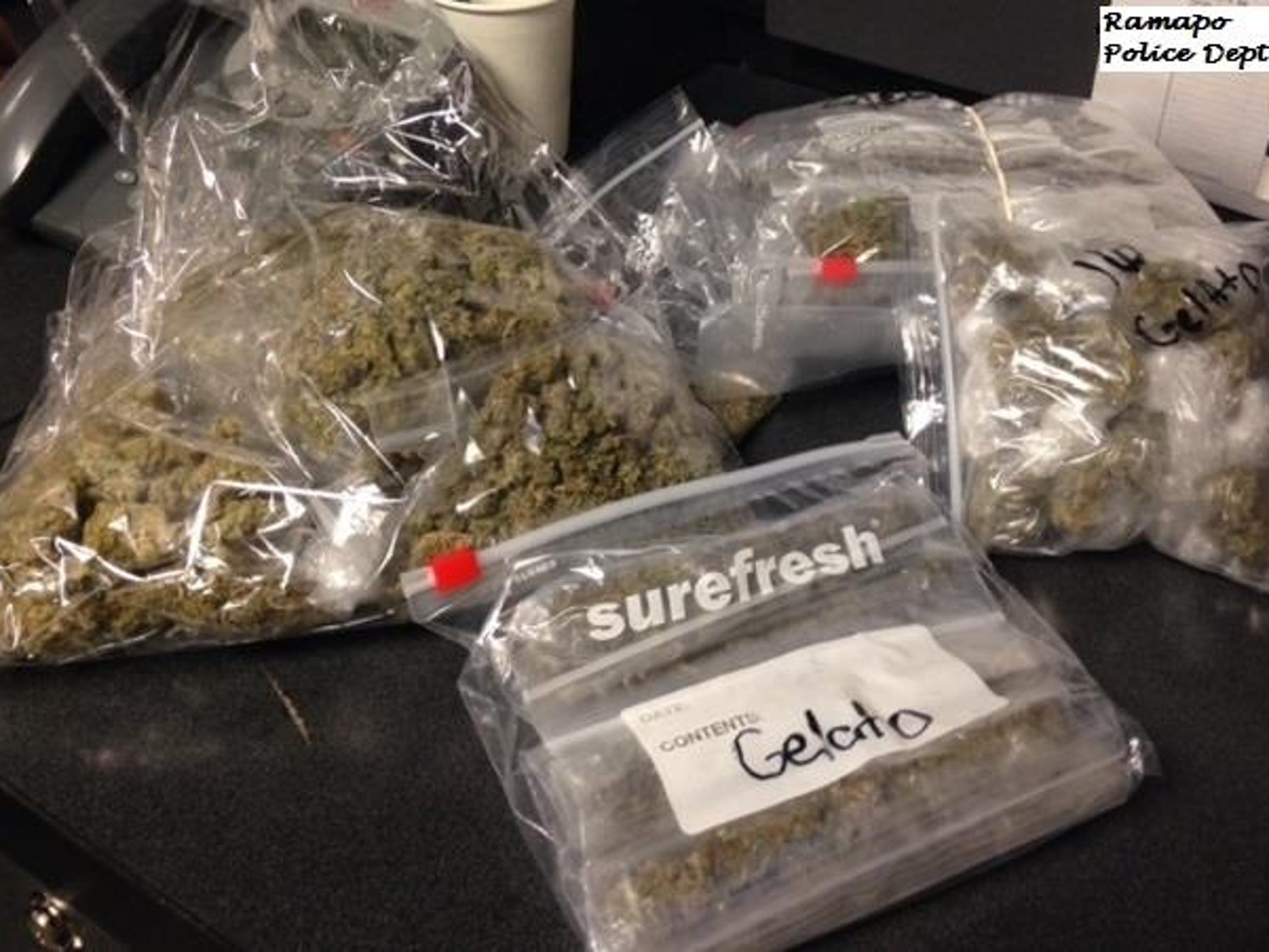 Ramapo police seized 2 pounds of marijuana after a traffic stop last year.
