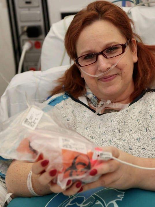 Lisa Salberg with sick heart