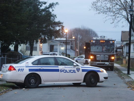 Police investigate a fatal shooting on Ludwig Park Tuesday morning.