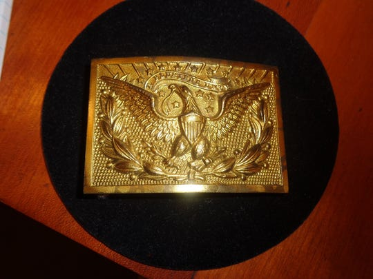 The detail and workmanship of this handsome buckle is remarkable. Probably issued during the centennial celebration of the American Civil War, it is $18 and at Antiques on Central, 730 E. Missouri, on the northeast corner of 7th Street and Missouri.