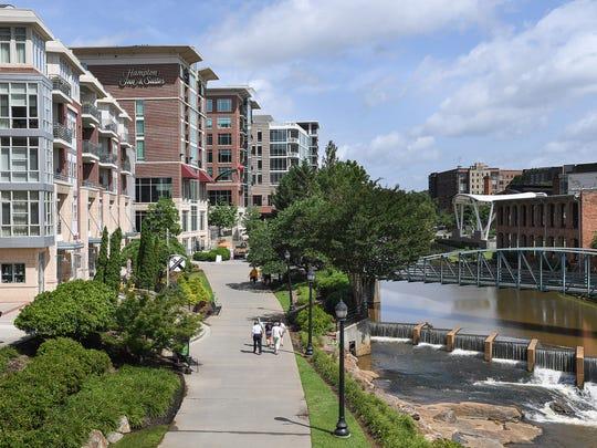 The Hampton Inn & Suites located on Riverwalk in downtown