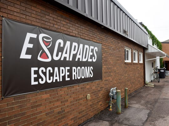 Escapades escape rooms is located on the corner of