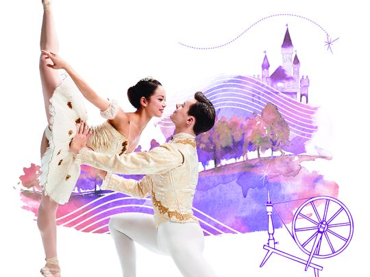 "Sirui Liu and David Morse are seen in a promotional photo for Cincinnati Ballet's production of ""The Sleeping Beauty."""