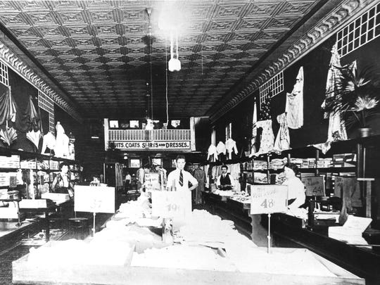 An early photo of Golden's in downtown Coshocton.
