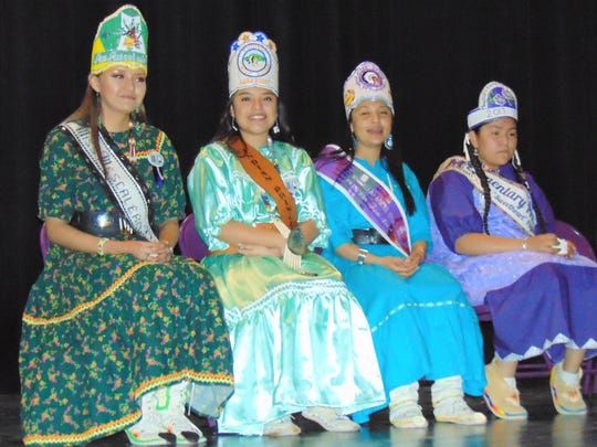 Members of the Apache Royal Court are from left Miss