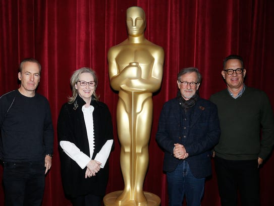 """The Post"" team includes (from left) Bob Odenkirk,"