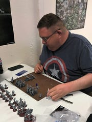 Tom Flannery prepares for the Star Wars Legion Painting