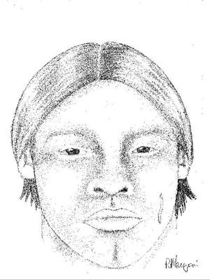 Police sketch of luring suspect