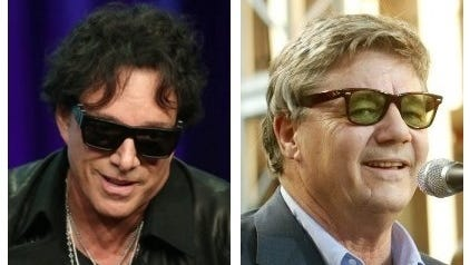 Neal Schon, left, will perform with Journey, and Steve Miller will lead the Steve Miller Band at Klipsch Music Center.