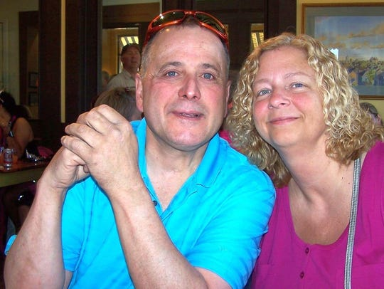 Mark Adams and Brenda Edge, who will wed during the