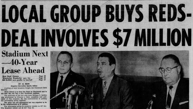 The Enquirer's publisher helped to buy the Cincinnati Reds 50 years ago.