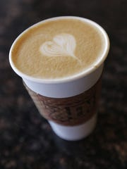 A latte at the 2Ten Coffee Roastery and Cafe at  3007 Montana in Central El Paso.