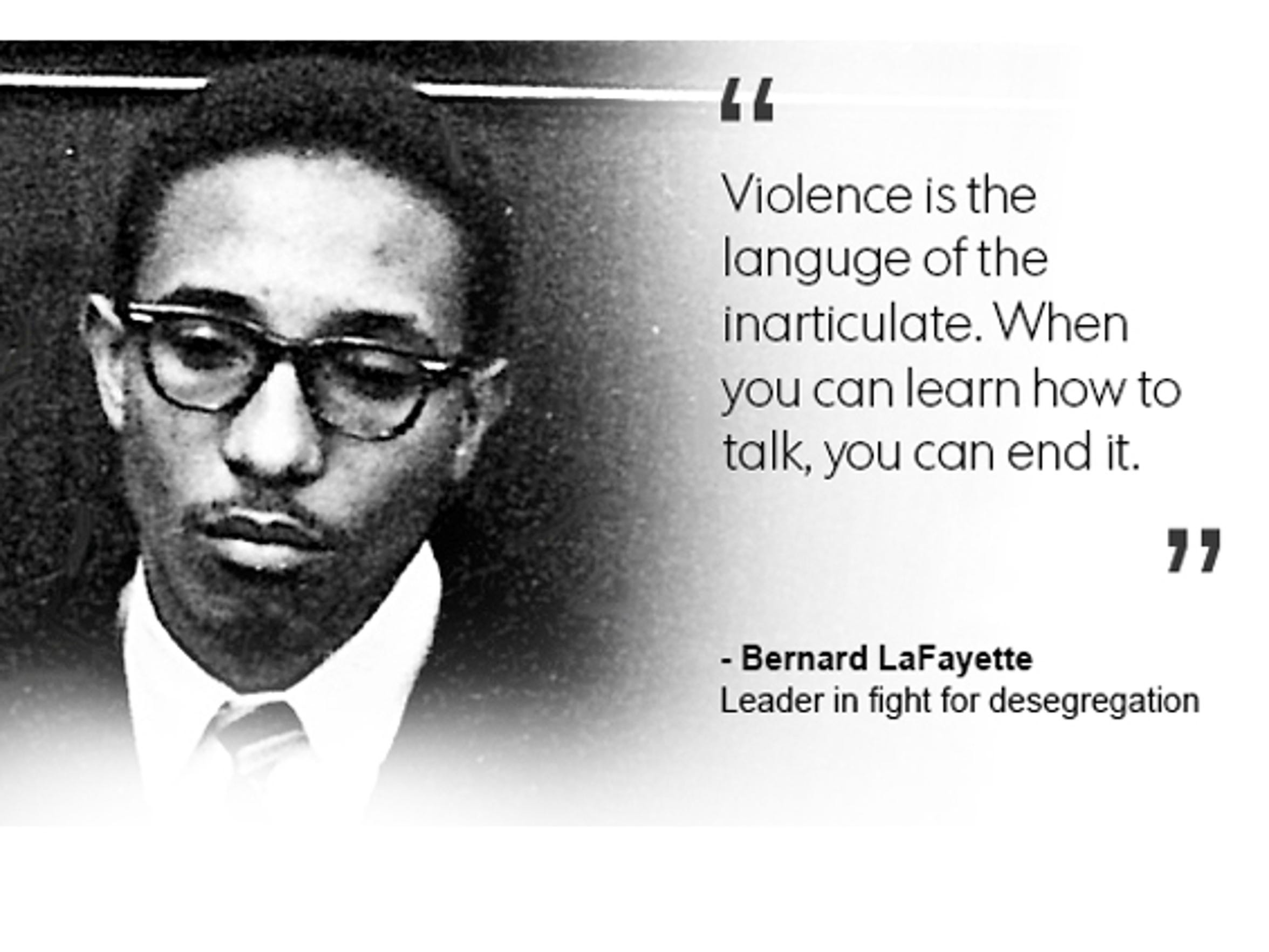 Bernard Lafayette, leader in fight for desegregation