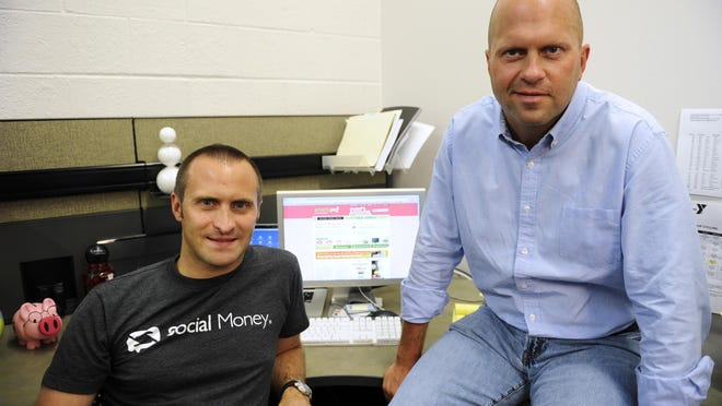 Social Money co-founders Mike Ferrari and Jon Gaskell.