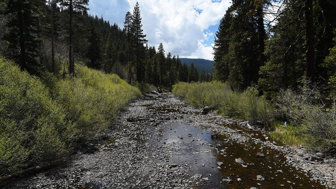 The Truckee River is seen approximately a half mile downstream from Lake Tahoe on May 27, 2015.