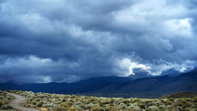 A photo of storm clouds rolling over the region. Reno forecasters are expecting thunderstorms to roll into the area starting on Wednesday, July 15, 2020.