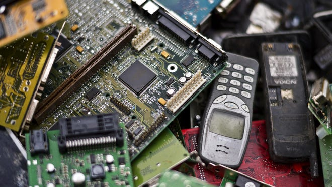 Electronics will be among the items accepted at the annual Recyclerama.