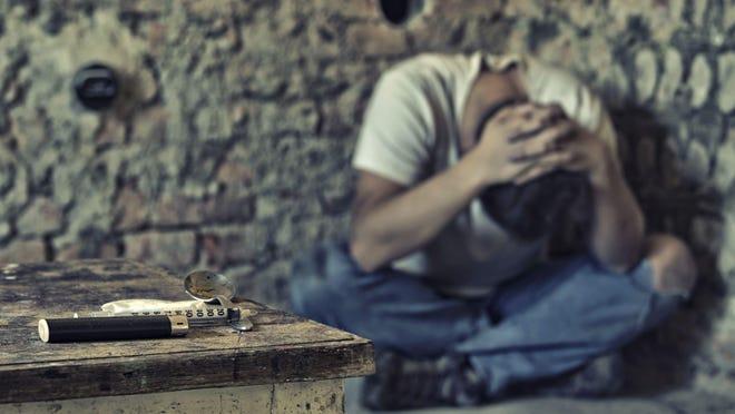 Drug addiction crisis.