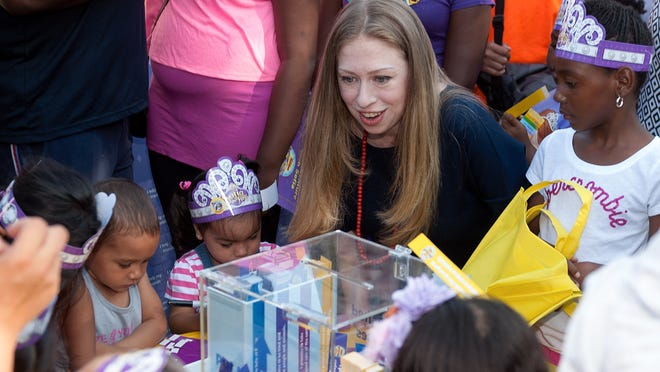 NEW YORK, NY - JULY 25:  Chelsea Clinton attends the Pirate And Princess: Power Of Doing Good Tour at Riverbank State Park on July 25, 2014 in New York City.  (Photo by D Dipasupil/FilmMagic) ORG XMIT: 503233271 ORIG FILE ID: 452664954