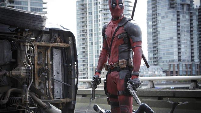 "Ryan Reyonlds stars in ""Deadpool."""
