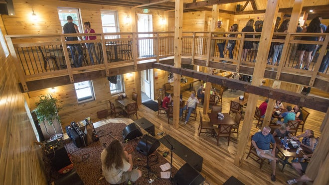 The Ransom Steele Tavern in Apalachin features two floors of seating with a bar on each.