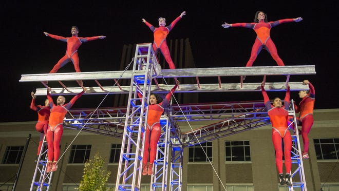 The STREB team performs their final act Sept. 16 during the First Niagara Fringe Festival.