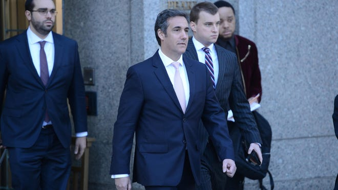 Michael Cohen, a now former attorney for President Donald Trump, exits the Federal Court House at 500 Pearl Street in Manhattan on April 26, 2018, after a hearing before Judge Kimba Wood. (Susan Watts/New York Daily News/TNS)