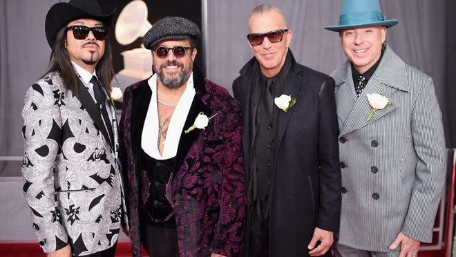 From left, guitarist Eddie Perez, singer/guitarist Raul Malo, drummer Paul Deakin and keyboardist Jerry Dale McFadden of The Mavericks.