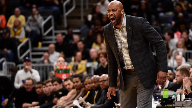 Missouri head men's basketball coach Cuonzo Martin reacts to a call during a game against Illinois on Dec. 21 at Enterprise Center in St. Louis.
