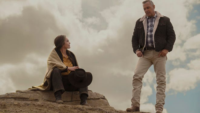 "Diane Lane, left, and Kevin Costner in a scene from ""Let Him Go."""