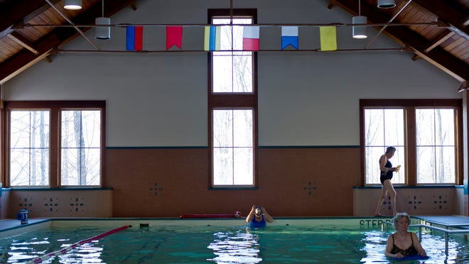 Residents of the Wake Robin Assisted Living community in Shelburne take advantage of the indoor pool in 2015.