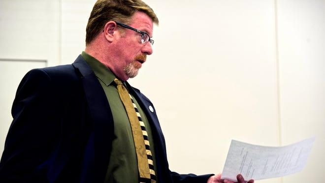Vermont Liquor Control Director of Education, Licensing and Enforcement William Goggins speaks to the Liquor Control Board during a hearing in Montpelier earlier this month.