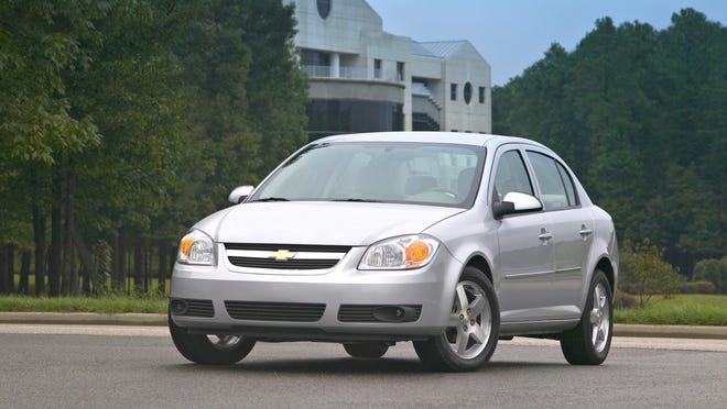 The 2005 Chevrolet Cobalt LT sedan was recalled for ignition-switch issues.