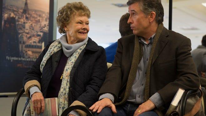 "Judi Dench (left) and Steve Coogan in a scene from ""Philomena."""