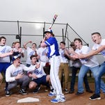 Spring Grove's Austin Piety spends most of the year leading his school's student section, cheering on his classmates. In the spring, he takes the field playing first base for the Spring Grove baseball team.