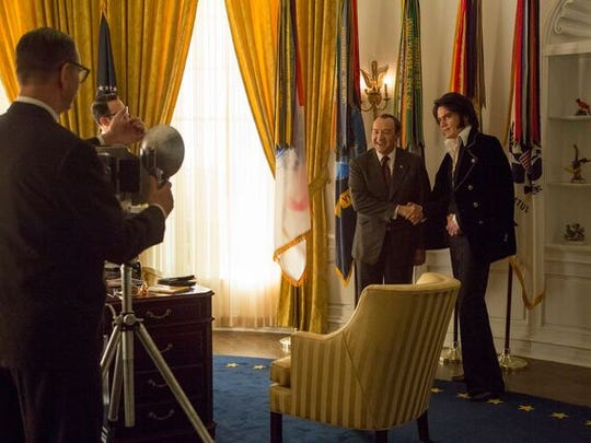 Michael Shannon (right) and Kevin Spacey play Elvis