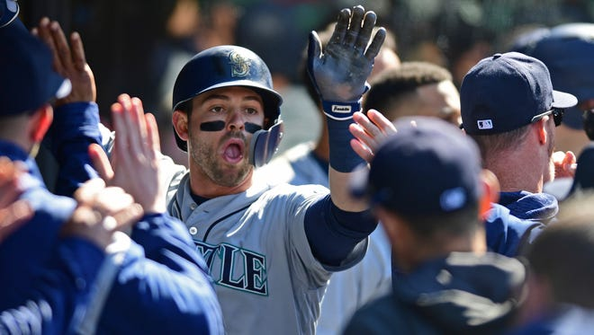 Mitch Haniger has 10 home runs on the season, tied for most in the American League.