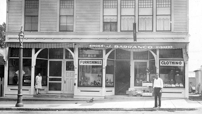 This circa 1930s photo shows the old Deal block at 32 N. Main St., Fairport. In 1928, James Barranco bought the property and located the family store there.